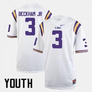 Odell Beckham Jr LSU Jersey #3 Alumni Football Game White Youth 399771-924