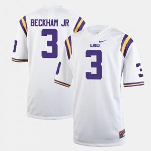White #3 Odell Beckham Jr LSU Jersey Men Alumni Football Game 289921-107