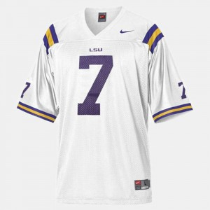 For Kids White Patrick Peterson LSU Jersey #7 College Football 499131-222