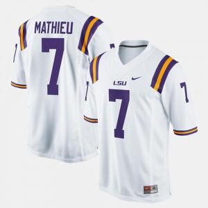 For Men's #7 Alumni Football Game Tyrann Mathieu LSU Jersey White 745421-500