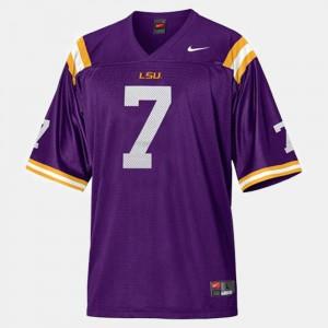 College Football Men Purple #7 Tyrann Mathieu LSU Jersey 885578-498