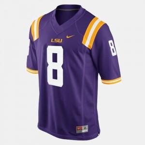 #8 Mens Zach Mettenberger LSU Jersey College Football Purple 860555-452