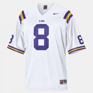 College Football Men's White #8 Zach Mettenberger LSU Jersey 596868-330