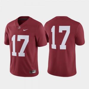 College Football Men's Game Alabama Jersey Crimson #17 412354-414