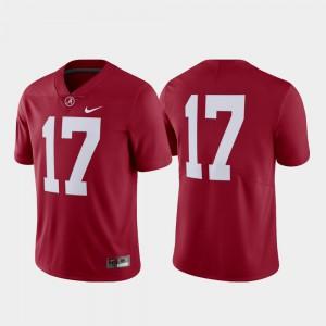 For Men #17 College Football Alabama Jersey Limited Crimson 891917-386