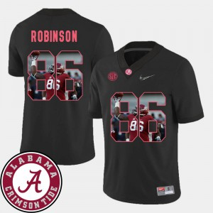 Mens Pictorial Fashion A'Shawn Robinson Alabama Jersey Football Black #86 945189-186