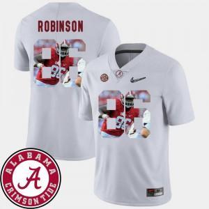 White Pictorial Fashion Men's A'Shawn Robinson Alabama Jersey #86 Football 173253-265