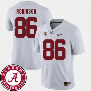 2018 SEC Patch A'Shawn Robinson Alabama Jersey College Football #86 Mens White 338636-364