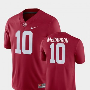 #10 Crimson For Men College Football AJ McCarron Alabama Jersey Game 911972-214