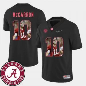 Black #10 For Men Football AJ McCarron Alabama Jersey Pictorial Fashion 171166-989
