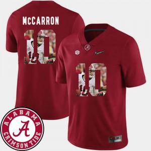 Men Crimson Football #10 Pictorial Fashion AJ McCarron Alabama Jersey 715738-267