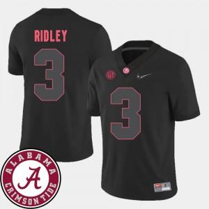 Men College Football #3 2018 SEC Patch Black Calvin Ridley Alabama Jersey 372513-259