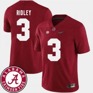 Men #3 College Football 2018 SEC Patch Crimson Calvin Ridley Alabama Jersey 488008-286