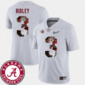 Football Pictorial Fashion Men #3 Calvin Ridley Alabama Jersey White 149793-766