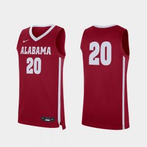 Alabama Jersey Crimson College Basketball Men's Replica #20 838700-817