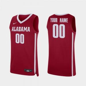 Crimson College Basketball #00 Replica Men's Alabama Custom Jersey 110923-976