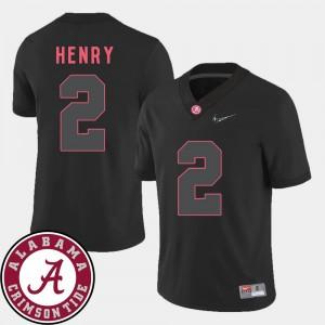 College Football 2018 SEC Patch Black #2 Derrick Henry Alabama Jersey Mens 415705-302