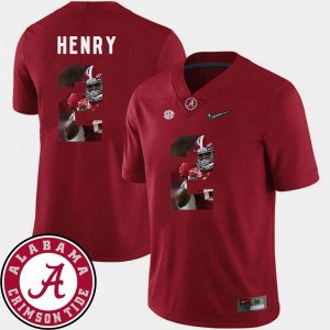 #2 Football For Men's Crimson Pictorial Fashion Derrick Henry Alabama Jersey 623349-823