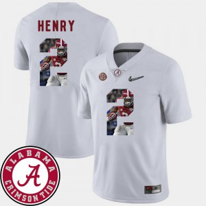 Pictorial Fashion Derrick Henry Alabama Jersey Football #2 White For Men 385334-635