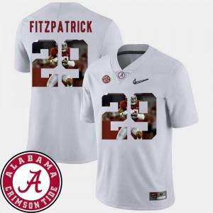 White Pictorial Fashion Men's Football #29 Minkah Fitzpatrick Alabama Jersey 498465-737