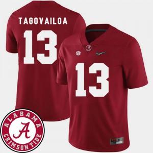 College Football Mens Crimson 2018 SEC Patch Tua Tagovailoa Alabama Jersey #13 681374-455