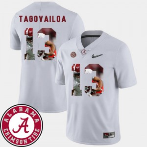 White For Men Football Tua Tagovailoa Alabama Jersey Pictorial Fashion #13 595330-849