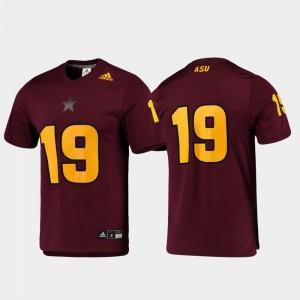 #19 ASU Jersey Football For Men Replica Maroon 983892-799