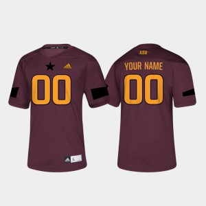 For Men College Football #00 Maroon ASU Custom Jerseys 297758-786