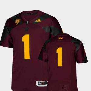 Men's Premier College Football Maroon ASU Jersey #1 121796-133