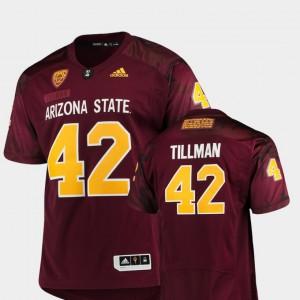 Pat Tillman ASU Jersey Men's Special Premier Game #42 Maroon 596462-378