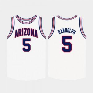 White Brandon Randolph Arizona Jersey College Basketball #5 For Men 291582-839