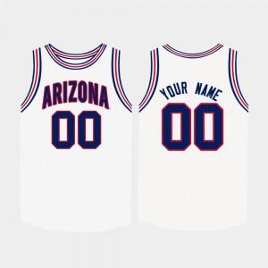 Mens Arizona Customized Jerseys College Basketball #00 White 801204-455
