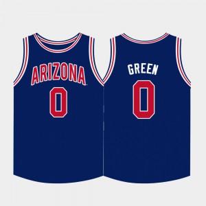 For Men Josh Green Arizona Jersey College Basketball Navy #0 337196-451