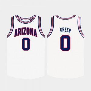 Men's #0 Josh Green Arizona Jersey College Basketball White 446077-816