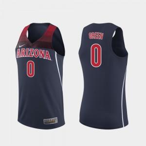 For Men's Replica College Basketball #0 Navy Josh Green Arizona Jersey 320326-224