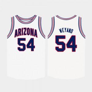 #54 White For Men Matt Weyand Arizona Jersey College Basketball 228353-147