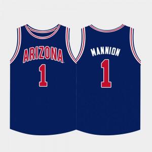 College Basketball Men Navy Nico Mannion Arizona Jersey #1 409686-423