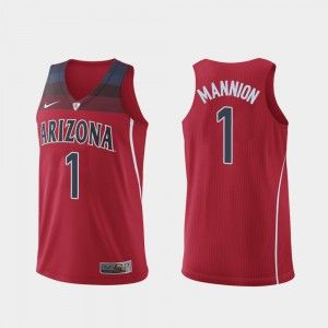 Hyper Elite College Basketball Red Mens Authentic Nico Mannion Arizona Jersey #1 996501-935