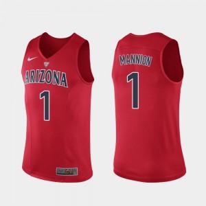 For Men's Nico Mannion Arizona Jersey Red #1 Hyper Elite Performance Authentic 614084-673