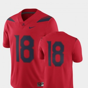 2018 Game Men #18 Arizona Jersey Red College Football 239558-300