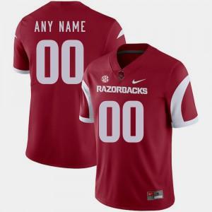 Arkansas Customized Jerseys Mens Cardinal #00 College Football 482037-160