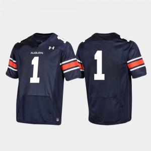 #1 Replica College Football Auburn Jersey For Men Navy 255206-998
