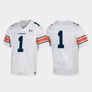 #1 Mens White College Football Auburn Jersey Premier 692690-938
