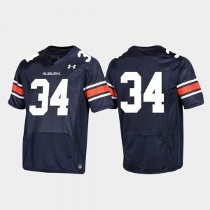 Auburn Jersey Navy For Men's Football #34 Replica 425814-457