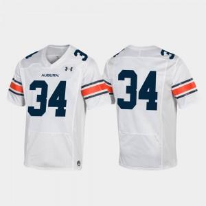 Replica #34 Men Auburn Jersey White Football 718562-812