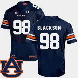 College Football SEC Patch Replica Angelo Blackson Auburn Jersey Men's Navy #98 366298-156