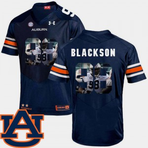 Football Men's Navy Angelo Blackson Auburn Jersey Pictorial Fashion #98 377376-431