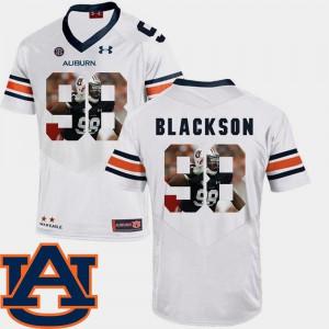 Pictorial Fashion Angelo Blackson Auburn Jersey Football White #98 Mens 540252-527