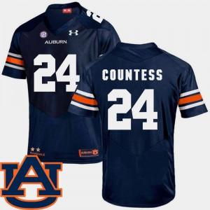 College Football Blake Countess Auburn Jersey Navy For Men's #24 SEC Patch Replica 864835-461