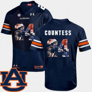 Navy Football #24 Pictorial Fashion Blake Countess Auburn Jersey For Men's 890698-729